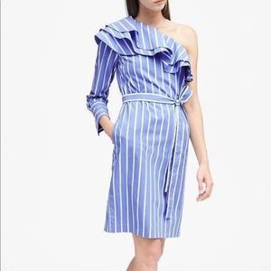 NWT Banana Republic One Shoulder Dress
